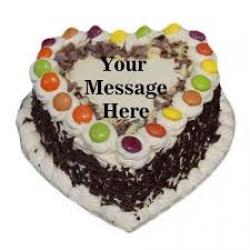 Heart Shape Black Forest Cake - 1kg