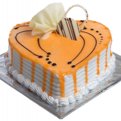 Heart Shape Butterscotch Cake- 1kg