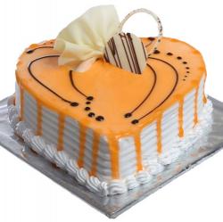 Heart Shape Butterscotch Cake- 1kg