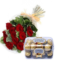 Red Roses N Chocolate Combo
