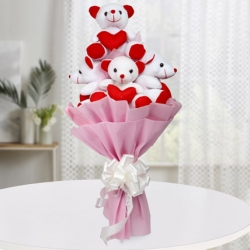Bouquet Of Cute Teddies