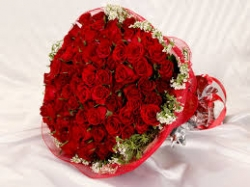 Red Flower Bunch For Spouse