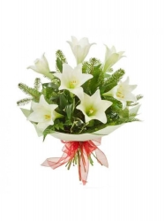 Bouquet Of Premium  White   Lilies